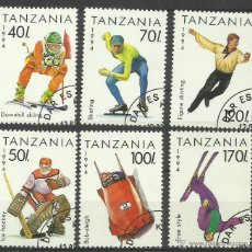 Sellos: TANZANIA 1994- LOTE SELLOS OLIMPIADAS INVIERNO - JUEGOS OLIMPICOS. Lote 44929725