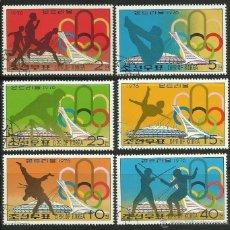 Sellos: COREA 1976 LOTE SELLOS OLIMPIADAS MONTREAL 76- JUEGOS OLIMPIUCOS- ESGRIMA- SALTO- ATLETISMO- LUCHA. Lote 45182438