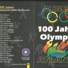 Timbres: ALEMANIA 1996 ESTUCHE PRESENTACION SELLOS 100 ANIVERSARIO DE OLIMPIADAS- ATLANTA 96 - INCLUYE SELLOS. Lote 47573250