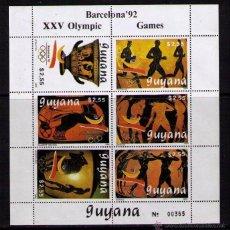 Timbres: GUYANA 1989 - JJOO DE BARCELONA 92 - HOJITA BLOQUE NUEVA. Lote 47879315