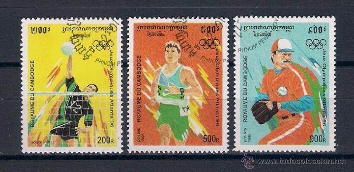 OLIMPIADA ATLANTA´96. CAMBOYA. AÑO 1996 (Sellos - Temáticas - Olimpiadas)