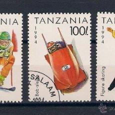 Sellos: OLIMPIADAS DE INVIERNO EN LILLEHAMMER´94 (NORUEGA). TANZANIA. SELLOS AÑO 1994. Lote 47983515