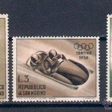 Timbres: OLIMPIADAS DE INVIERNO EN CORTINA D´ AMPEZZO,ITALIA. . SAN MARINO.SELLOS AÑO 1955. Lote 47983573