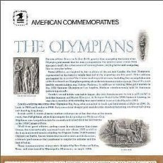 Sellos: USA 1990 COMMEMORATIVE PANEL 352 THE OLYMPIANS. Lote 6387357