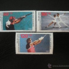 Sellos: BERLIN 1988 IVERT 762/4 *** JUEGOS OLIMPICOS SEUL - DEPORTES - TIRO - PATINAJE ARTISTICO - ATLETISMO. Lote 50237013