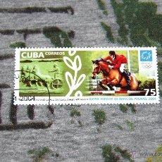 Sellos: SELLOS DE OLIMPIADAS - EQUITACIÓN - CARRERA DE CARROS - XXVIII JUEGOS OLÍMPICOS ATENAS 2004. Lote 50416336