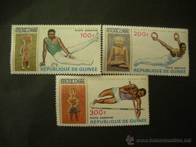 R. GUINEA 1968 AEREO IVERT 91/3 *** JUEGOS OLIMPICOS DE MEXICO DE 1968 - DEPORTES (Sellos - Temáticas - Olimpiadas)