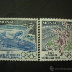 Sellos: MONACO 1992 IVERT 1811/12 *** JUEGOS OLIMPICOS 1992 - VERANO EN BARCELONA - INVIERNO EN FRANCIA. Lote 50731405