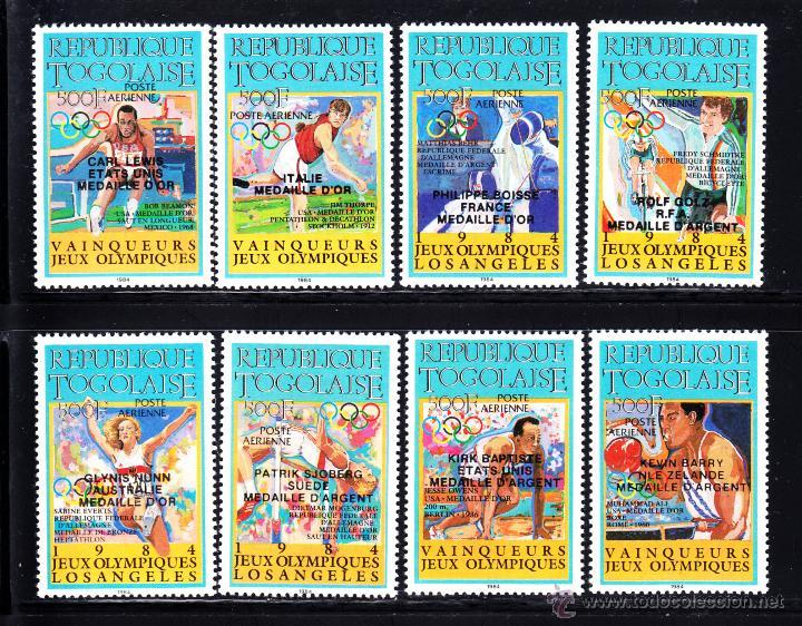 TOGO AEREO 594/601** - AÑO 1985 - VENCEDORES DE LOS JUEGOS OLÍMPICOS DE LOS ANGELES (Sellos - Temáticas - Olimpiadas)