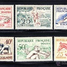 Sellos: FRANCIA 960/65** - AÑO 1953 - JUEGOS OLÍMPICOS DE HELSINKI . Lote 51398220