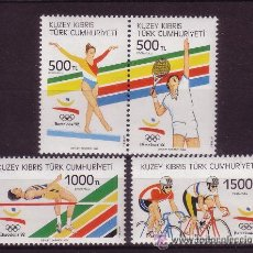 Sellos: CHIPRE TURCO 1992 - BARCELONA OLIMPICS 92 - YVERT Nº 309-312. Lote 269496238