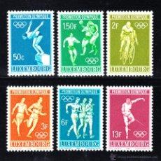 Sellos: LUXEMBURGO 716/21** - AÑO 1968 - JUEGOS OLÍMPICOS DE MÉXICO. Lote 52027920