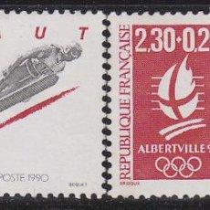 Sellos: FRANCIA IVERT 2674/5. JUEGOS OLIMPICOS DE INVIERNO EN ALBERTVILLE 1992, NUEVO ***. Lote 52414924