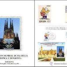 Sellos: DOCUMENTO F.N.M.T. OLYMPHILEX 92 BARCELONA. Lote 16670417