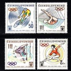 Sellos: CHECOSLOVAQUIA 1911/14** - AÑO 1972 - JUEGOS OLIMPICOS DE MUNICH. Lote 268170324