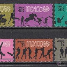 Sellos: MÉXICO 743/48** - AÑO 1968 - JUEGOS OLÍMPICOS DE MEXICO. Lote 53511266