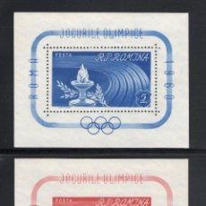 Sellos: RUMANÍA HB 47/48** - AÑO 1960 - JUEGOS OLÍMPICOS DE ROMA. Lote 54836581