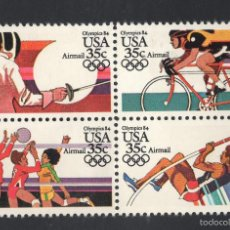 Sellos: ESTADOS UNIDOS AEREO 103/06** - AÑO 1983 - JUEGOS OLIMPICOS, LOS ANGELES 84. Lote 175553225