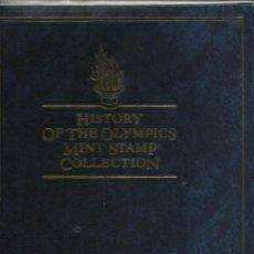 Sellos: ALBUM DE SELLOS TEMATICA HISTORIA DE LAS OLIMPIADAS - JUEGOS OLIMPICOS. Lote 57167404