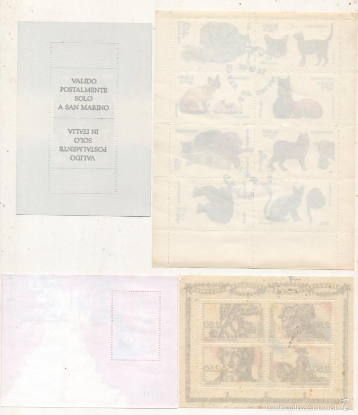 Sellos: Lote de 4 Hojas Bloque de sellos. - Foto 2 - 57236422