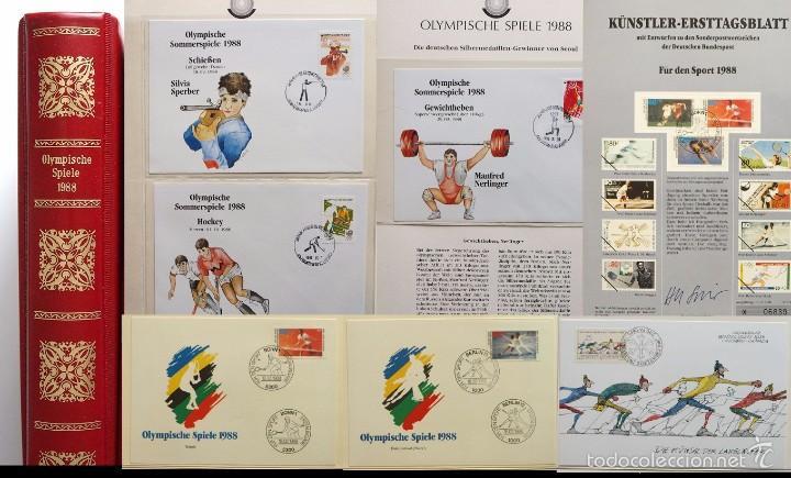 ALBUM II DE SELLOS DE LUJO CONMEMORATIVO DE LAS OLIMPIADAS SEUL 88 - JUEGOS OLIMPICOS- FDC (Sellos - Temáticas - Olimpiadas)