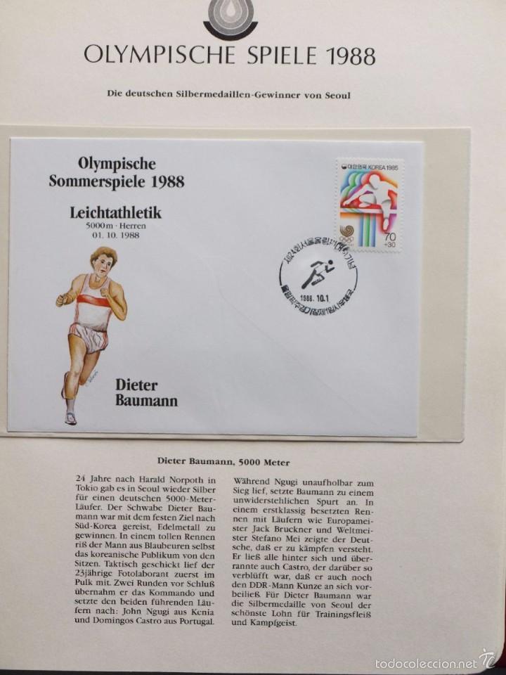Sellos: ALBUM II DE SELLOS DE LUJO CONMEMORATIVO DE LAS OLIMPIADAS SEUL 88 - JUEGOS OLIMPICOS- FDC - Foto 4 - 57398162