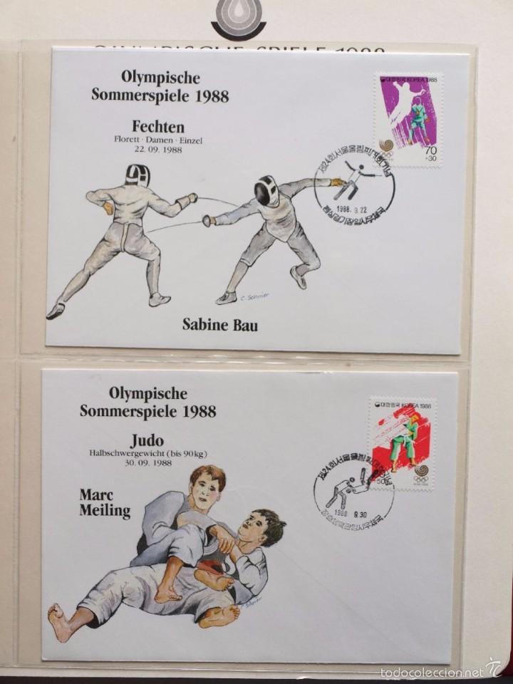 Sellos: ALBUM II DE SELLOS DE LUJO CONMEMORATIVO DE LAS OLIMPIADAS SEUL 88 - JUEGOS OLIMPICOS- FDC - Foto 6 - 57398162