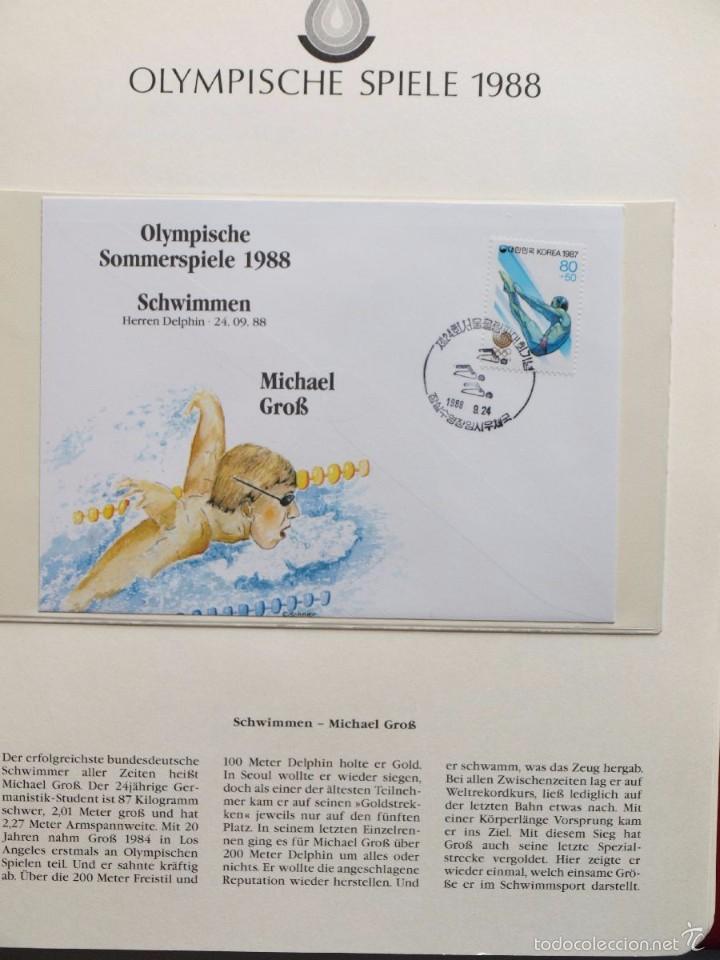 Sellos: ALBUM II DE SELLOS DE LUJO CONMEMORATIVO DE LAS OLIMPIADAS SEUL 88 - JUEGOS OLIMPICOS- FDC - Foto 10 - 57398162