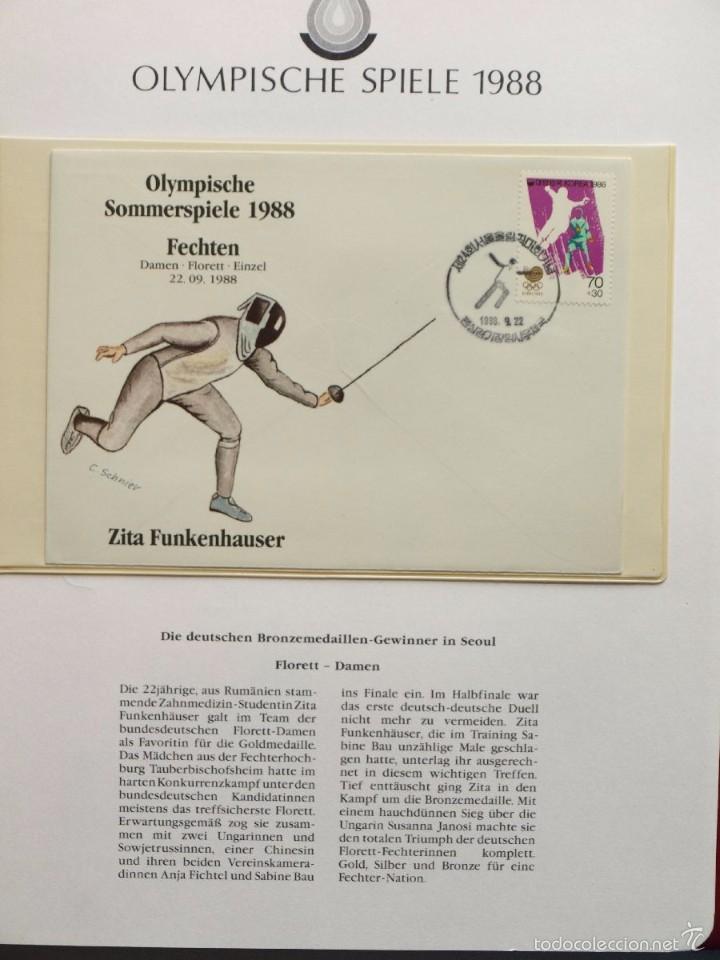 Sellos: ALBUM II DE SELLOS DE LUJO CONMEMORATIVO DE LAS OLIMPIADAS SEUL 88 - JUEGOS OLIMPICOS- FDC - Foto 13 - 57398162