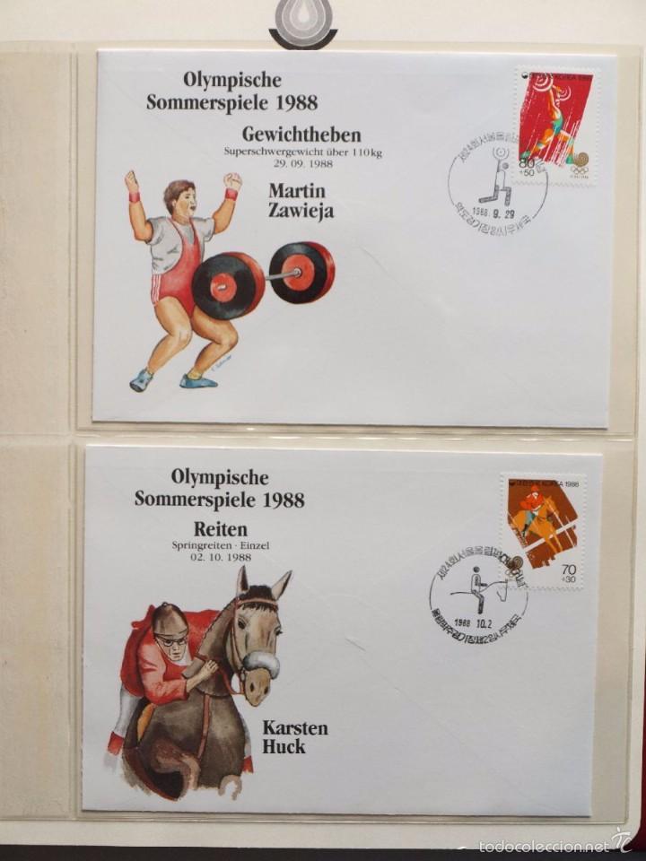 Sellos: ALBUM II DE SELLOS DE LUJO CONMEMORATIVO DE LAS OLIMPIADAS SEUL 88 - JUEGOS OLIMPICOS- FDC - Foto 14 - 57398162
