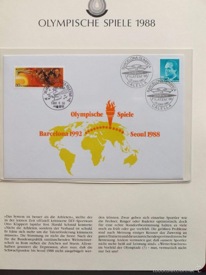 Sellos: ALBUM II DE SELLOS DE LUJO CONMEMORATIVO DE LAS OLIMPIADAS SEUL 88 - JUEGOS OLIMPICOS- FDC - Foto 17 - 57398162
