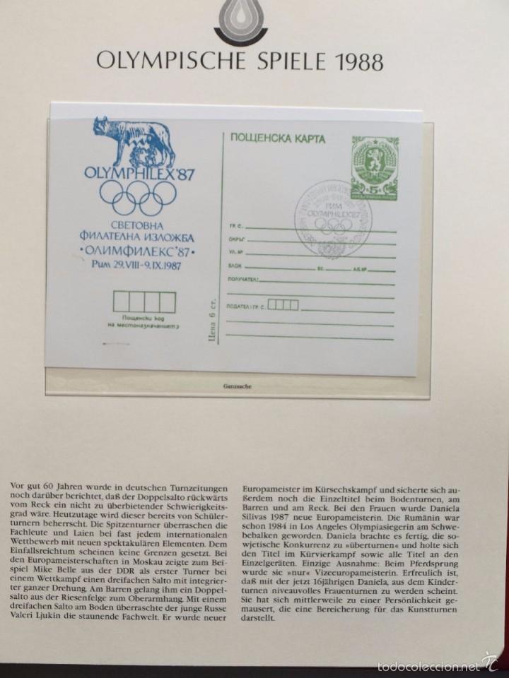 Sellos: ALBUM II DE SELLOS DE LUJO CONMEMORATIVO DE LAS OLIMPIADAS SEUL 88 - JUEGOS OLIMPICOS- FDC - Foto 19 - 57398162