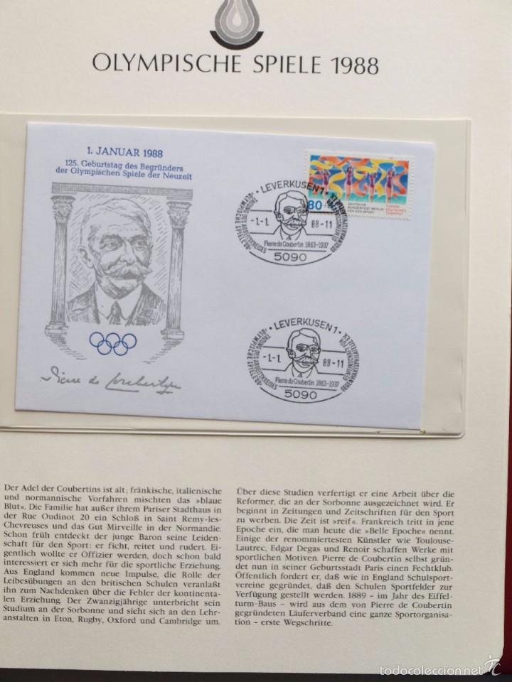 Sellos: ALBUM II DE SELLOS DE LUJO CONMEMORATIVO DE LAS OLIMPIADAS SEUL 88 - JUEGOS OLIMPICOS- FDC - Foto 23 - 57398162