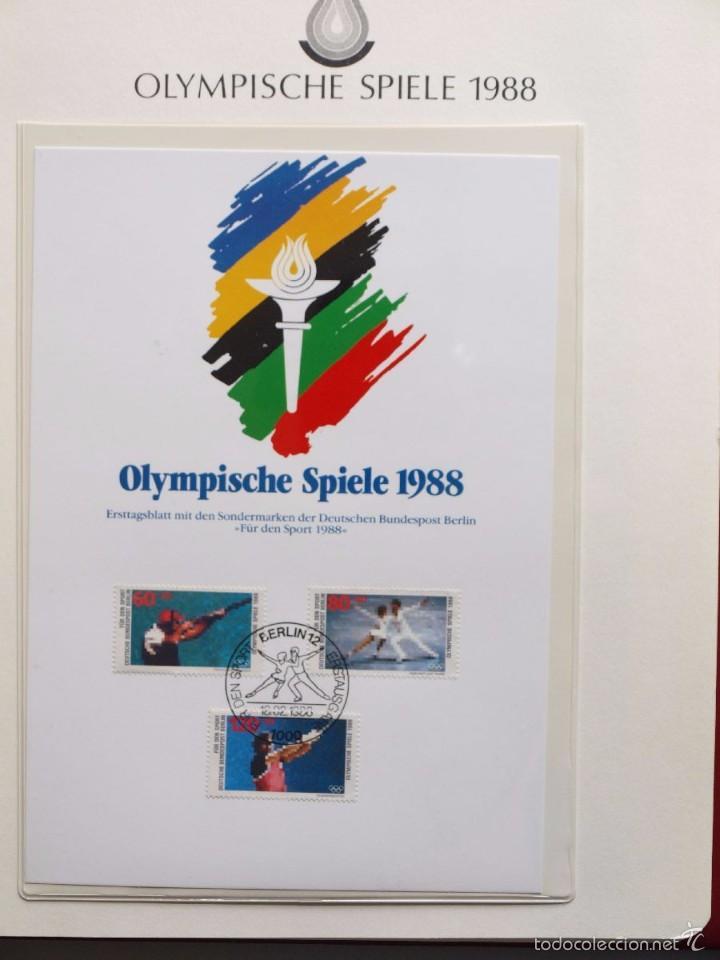 Sellos: ALBUM II DE SELLOS DE LUJO CONMEMORATIVO DE LAS OLIMPIADAS SEUL 88 - JUEGOS OLIMPICOS- FDC - Foto 24 - 57398162
