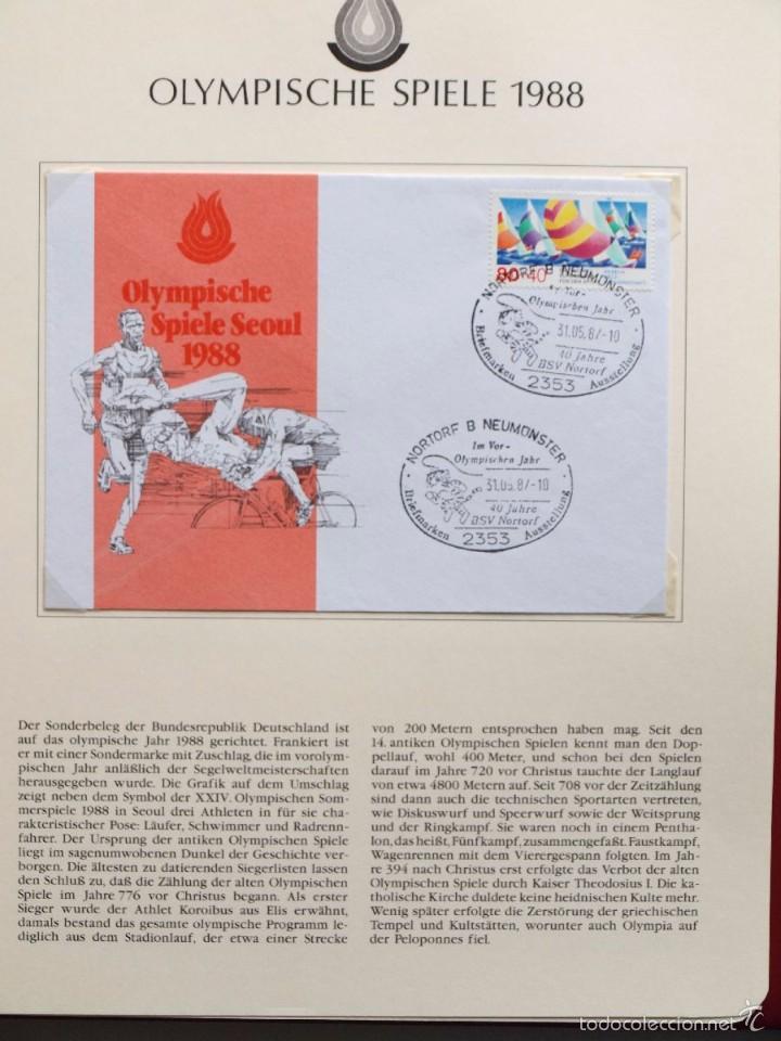 Sellos: ALBUM II DE SELLOS DE LUJO CONMEMORATIVO DE LAS OLIMPIADAS SEUL 88 - JUEGOS OLIMPICOS- FDC - Foto 26 - 57398162