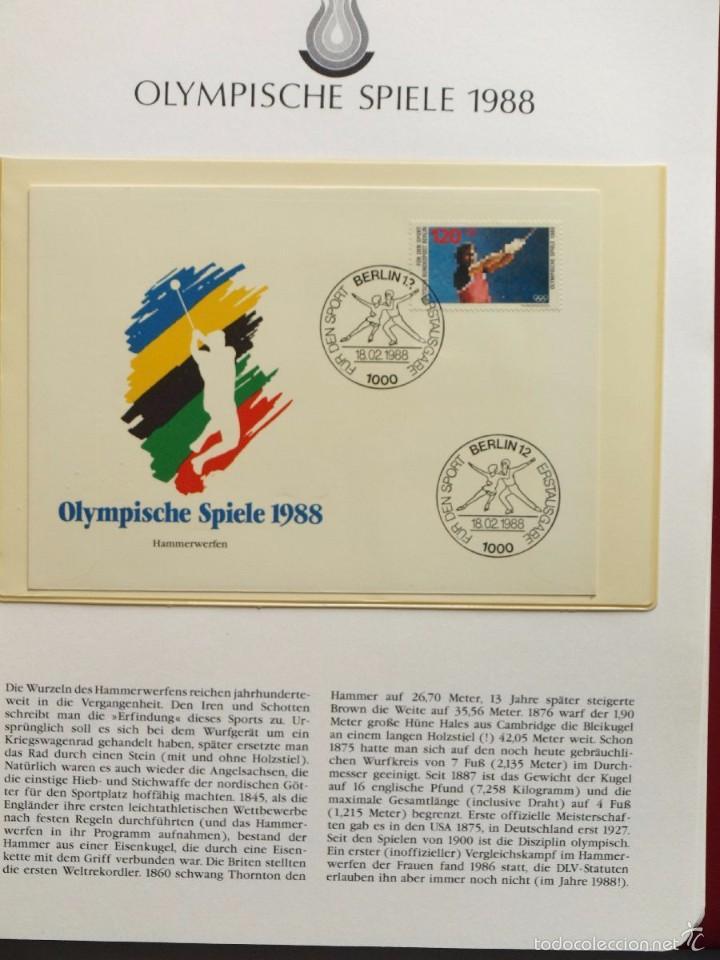 Sellos: ALBUM II DE SELLOS DE LUJO CONMEMORATIVO DE LAS OLIMPIADAS SEUL 88 - JUEGOS OLIMPICOS- FDC - Foto 27 - 57398162