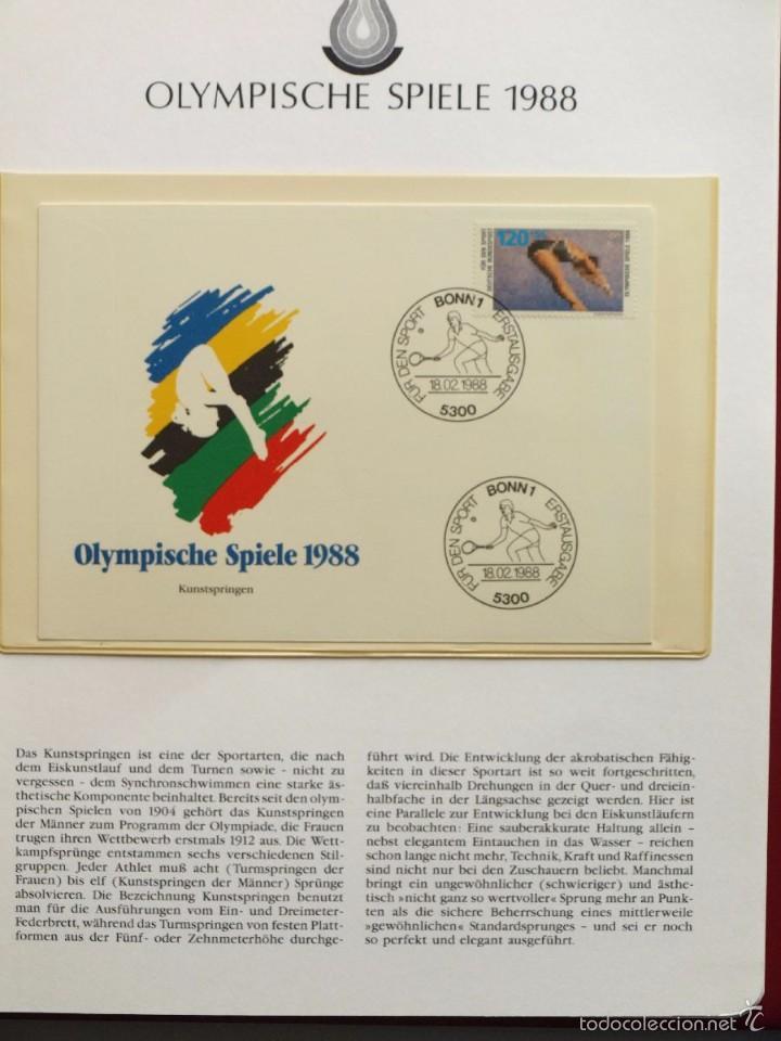 Sellos: ALBUM II DE SELLOS DE LUJO CONMEMORATIVO DE LAS OLIMPIADAS SEUL 88 - JUEGOS OLIMPICOS- FDC - Foto 30 - 57398162