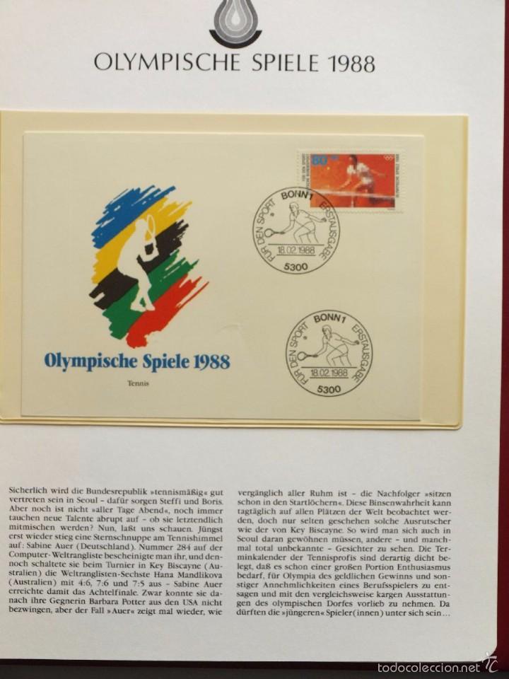 Sellos: ALBUM II DE SELLOS DE LUJO CONMEMORATIVO DE LAS OLIMPIADAS SEUL 88 - JUEGOS OLIMPICOS- FDC - Foto 31 - 57398162