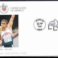 Sellos: USA 1996 SOBRE PRIMER DIA CIRCULACION OLIMPIADAS- JUEGOS OLIMPICOS- ATLANTA 96- LANZAMIENTO- FDC . Lote 57398613