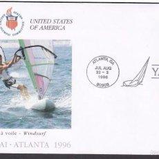 Sellos: USA 1996 SOBRE PRIMER DIA CIRCULACION OLIMPIADAS- JUEGOS OLIMPICOS- ATLANTA 96- WINDSURF- FDC . Lote 57398693