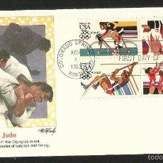 Sellos: SOBRE PRIMER DIA CIRCULACION OLIMPIADAS LOS ANGELES 1984- JUEGOS OLIMPICOS- FDC- JUDO. Lote 57630642
