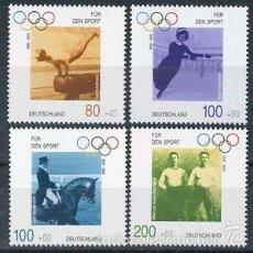 Sellos: ALEMANIA FEDERAL 1996 IVERT 1693/6 *** POR EL DEPORTE - CENTENARIO JUEGOS OLIMPICOS. Lote 58008162