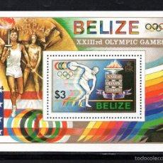 Sellos: BELICE HB 52** - AÑO 1984 - JUEGOS OLIMPICOS, LOS ANGELES 1984. Lote 58419949