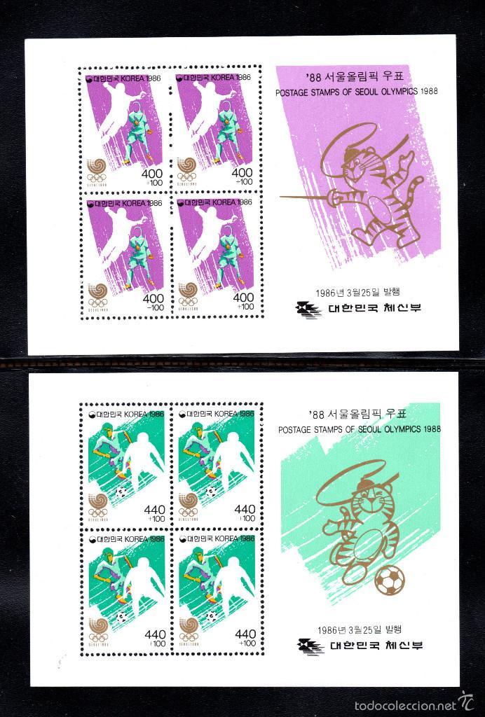COREA DEL SUR HB 381/84** - AÑO 1986 - JUEGOS OLÍMPICOS, SEUL 88 (Sellos - Temáticas - Olimpiadas)