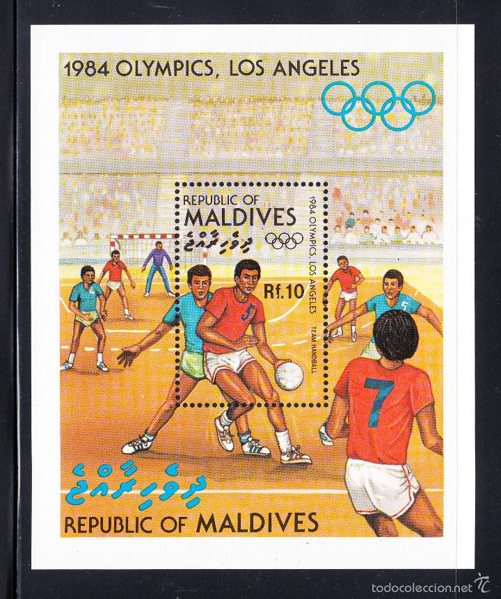 MALDIVAS HB 92** - AÑO 1984 - JUEGOS OLÍMPICOS, LOS ANGELES 84 - BALONMANO (Sellos - Temáticas - Olimpiadas)