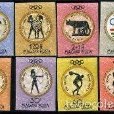 Sellos: HUNGRIA OLIMPIADAS DE ROMA 1960 Nº YVERT 1379-89 SIN DENTAR. Lote 61219739