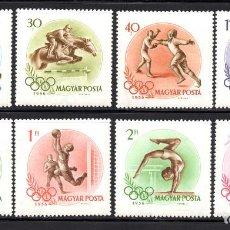 Sellos: HUNGRIA 1202/09** - AÑO 1956 - JUEGOS OLÍMPICOS DE MELBOURNE. Lote 118214210