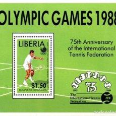 Sellos: LIBERIA 1988 HB IVERT 118 *** JUEGOS OLÍMPICOS DE SEÚL (II) - DEPORTES. Lote 66216698