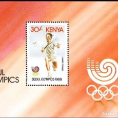 Sellos: KENYA 1988 HB IVERT 34 *** JUEGOS OLIMPICOS DE SEÚL - DEPORTES. Lote 66232762