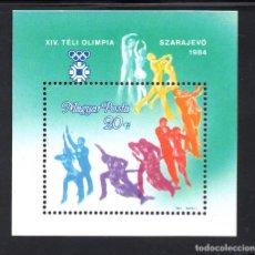 Sellos: HUNGRIA HB 172** - AÑO 1983 - JUEGOS OLÍMPICOS DE INVIERNO, SARAJEVO 84. Lote 68532021